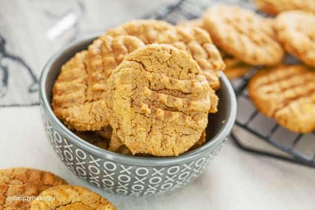 Vegan SunButter Cookies in a bowl