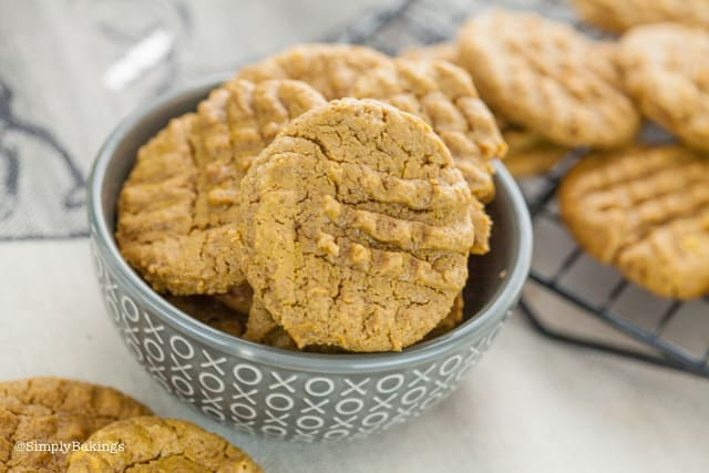 Vegan SunButter Cookies in a bowl