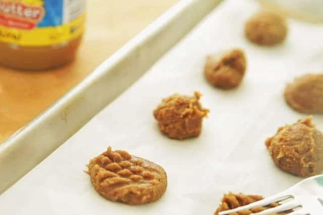 cookie dough in baking mat