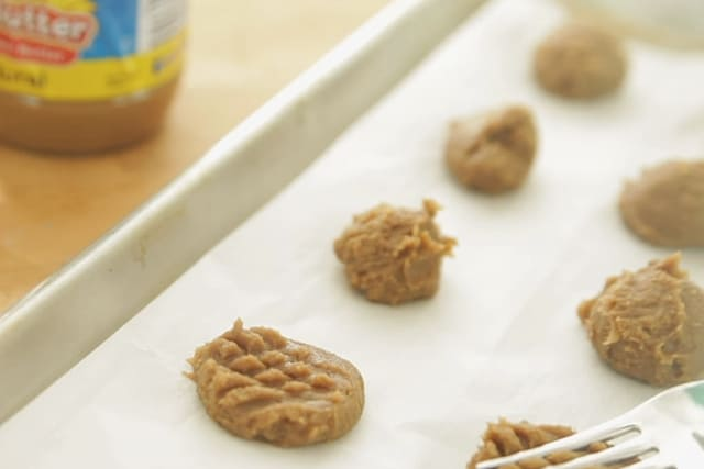 cookie dough in baking mat