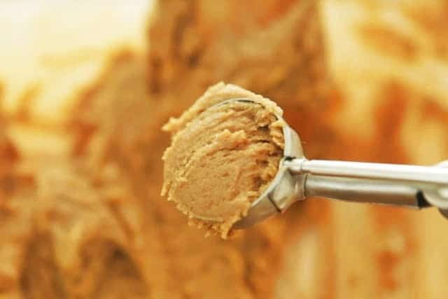 batter on ice cream scoop