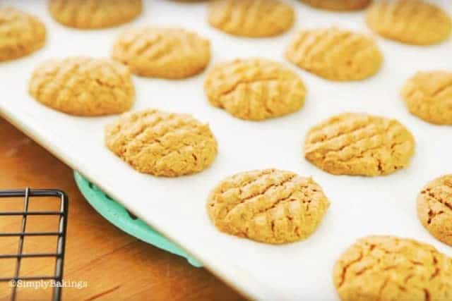 SunButter Cookies on a cookie rack