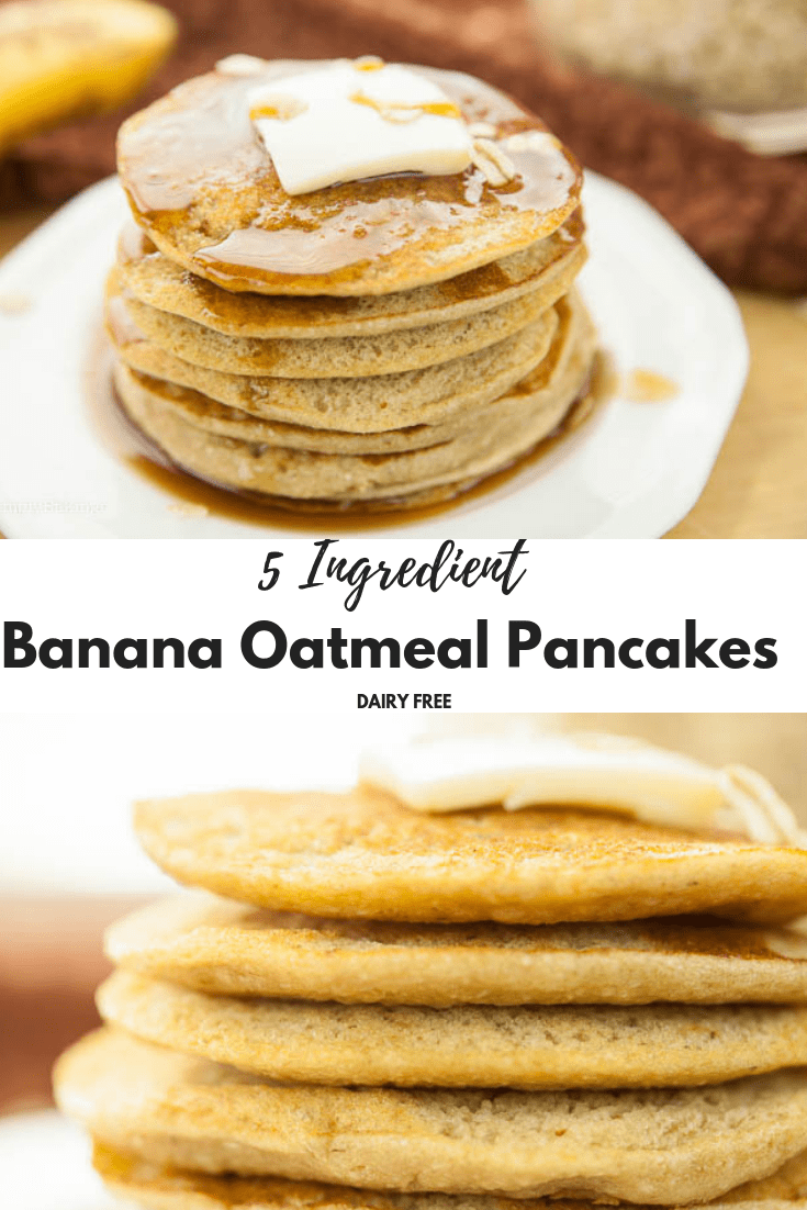 BEST vegan banana oatmeal pancake | 5 Ingredients ONLY | Includes Video Tutorial