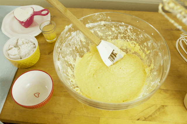 mixed ingredients for simple lemon cake recipe