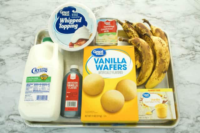 7 ingredients for banana pudding recipe
