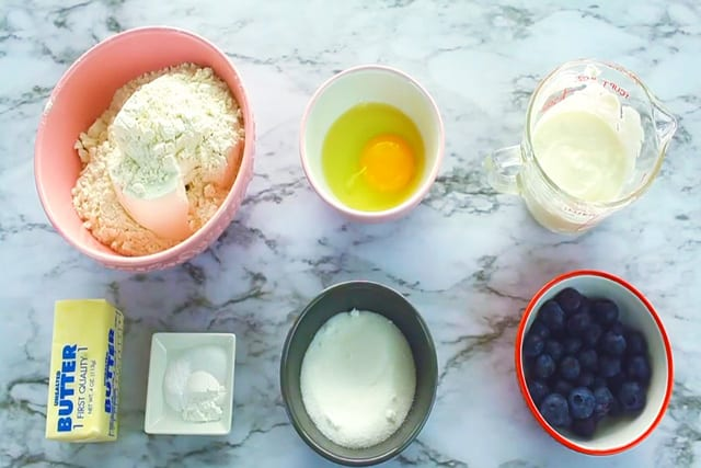 Ingredients for Easy and Delicious Blueberry Scones Recipe