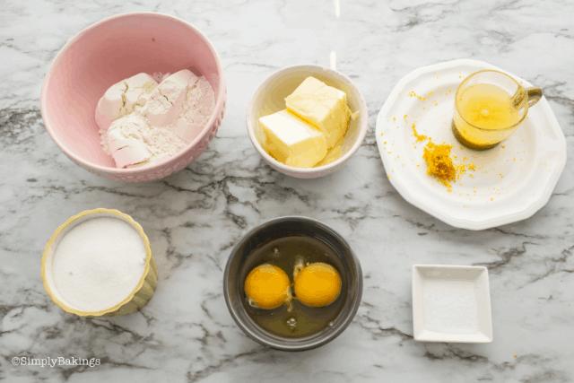 ingredients to use for lemon brownies