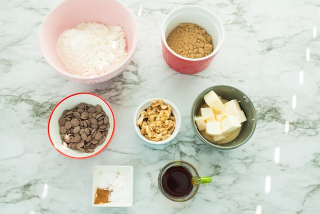 ingredients for vegan blondies recipe