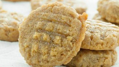 freshly baked keto peanut butter cookies
