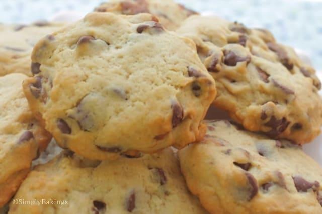 freshly baked nutella stuffed cookies