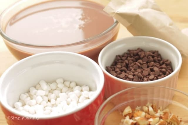 ingredients of rocky road popsicle recipe