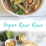 vegan kare kare and its ingredients