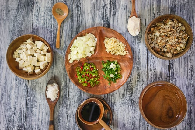 ingredients for tofu sisig