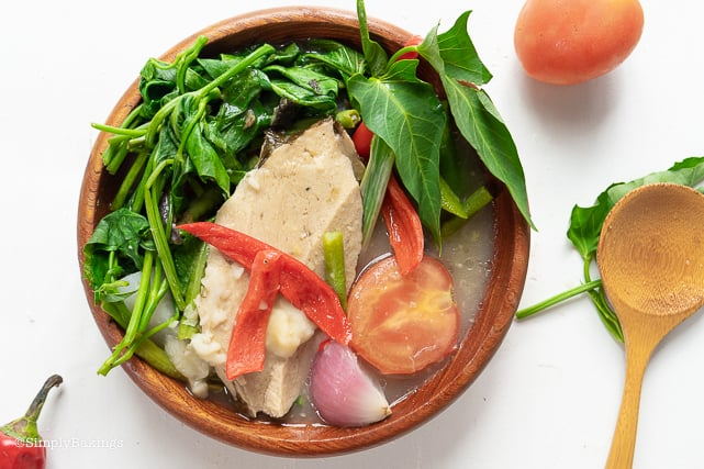 best and delicious vegetarian sinigang