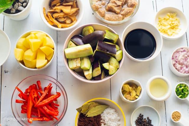 vegetarian Filipino Chicken Adobo ingredients