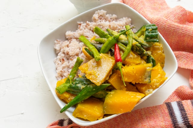 Vegan Vegetarian Pinakbet over steamed brown rice
