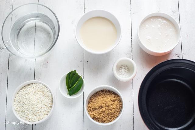biko ingredients on a white surface