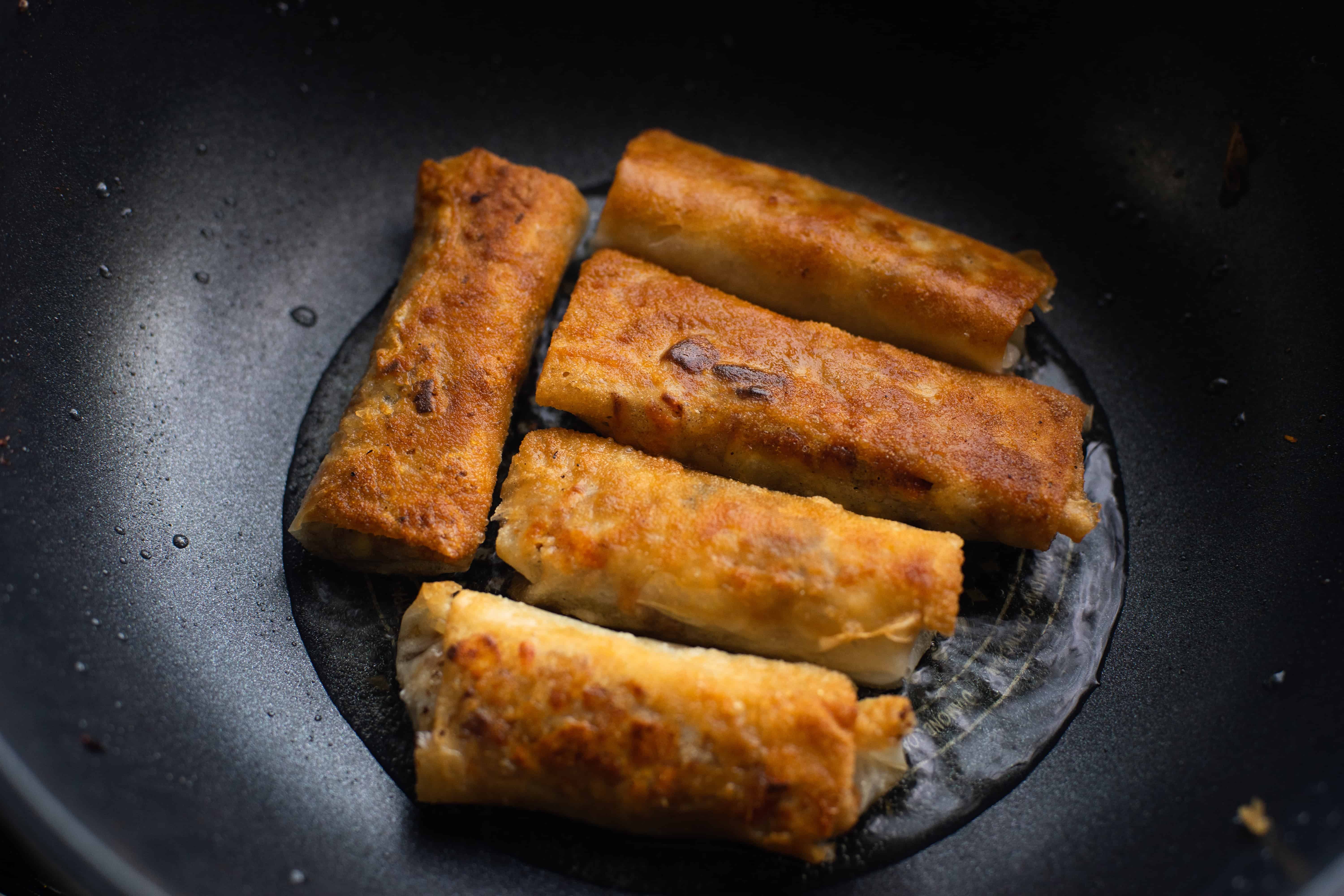 frying eggroll