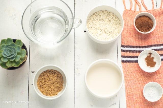 vegan filipino champorado ingredients