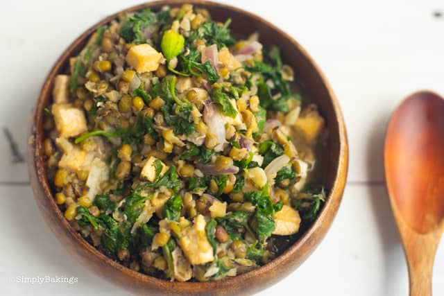 delicious and nutritious Ginisang monggo in a wooden bowl