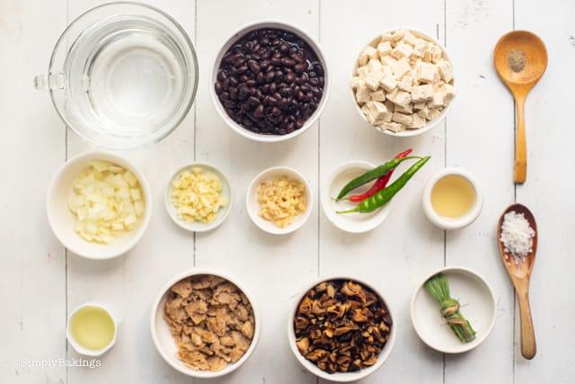 vegan dinuguan ingredients
