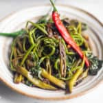 delicious and nutritious Adobong kangkong on a plate