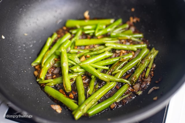 cooked kangkong stalks for Adobong kangkong recipe
