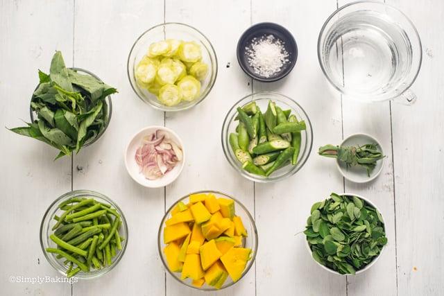 Laswa vegan soup ingredients