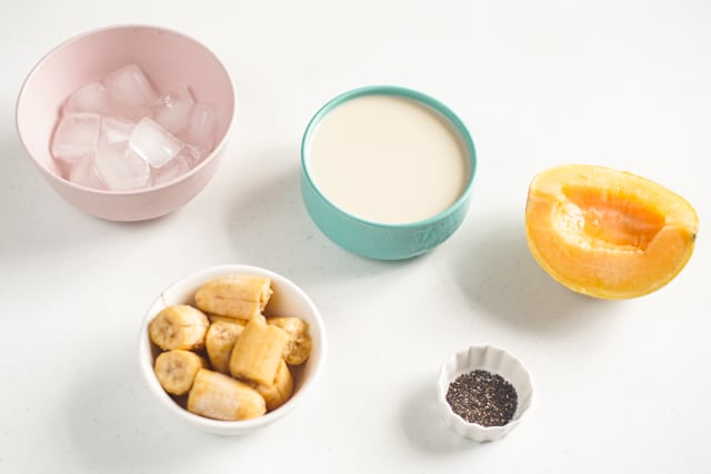 ingredients of the cantaloupe smoothie recipe