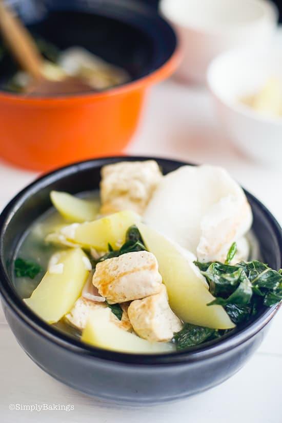 delicious Binakol in a black bowl