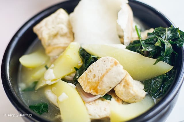 warm Binakol soup in a bowl