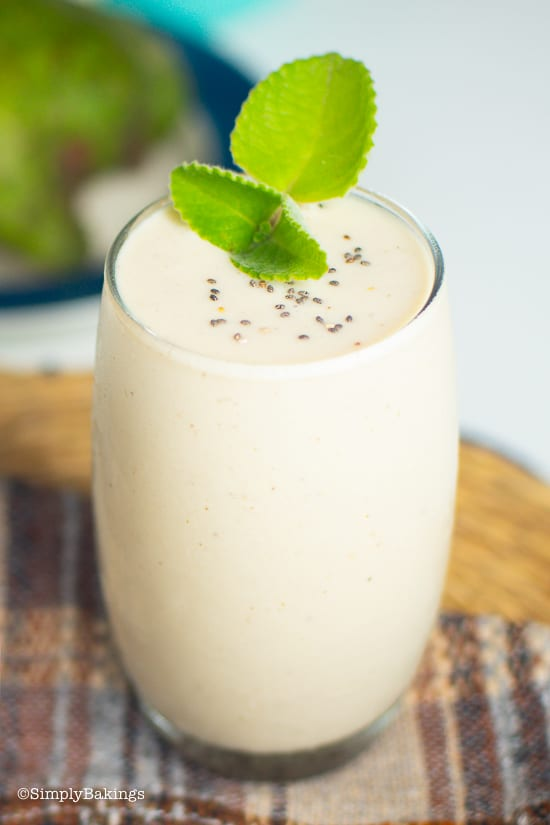 delicious guyabano smoothie in a glass