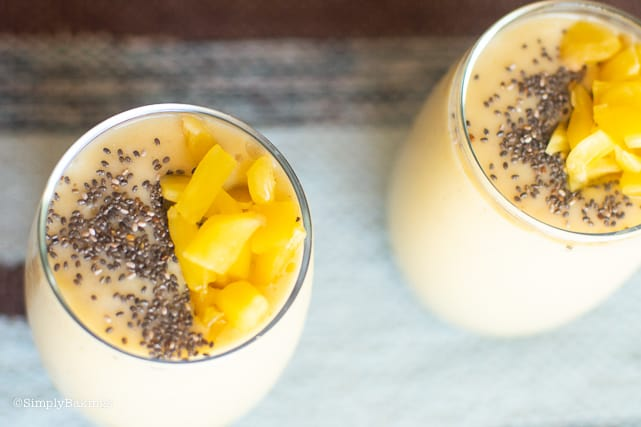 two glassess of langka smoothie