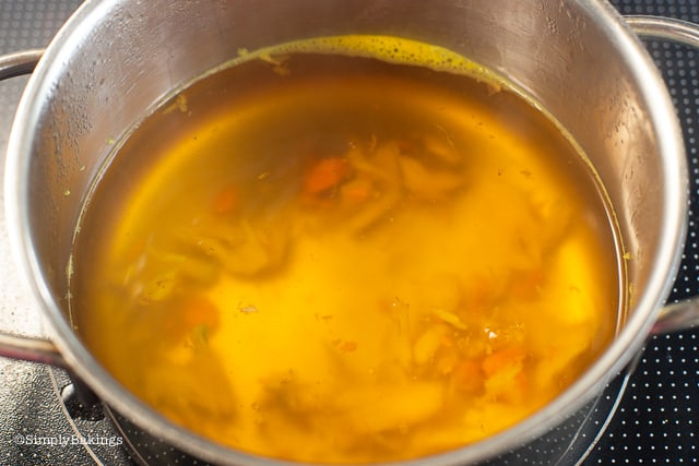 freshly cooked salabat on a pot