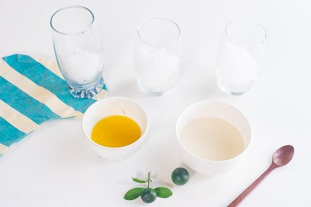 Ingredients of calamansi juice