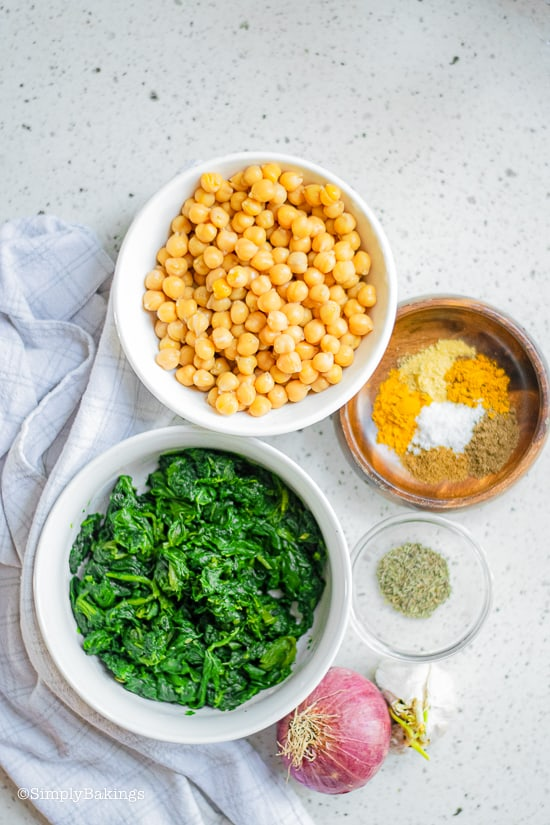 Curried Chickpea Wraps ingredients