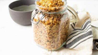 a jar of granola