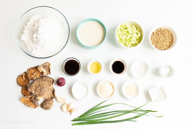 ingredients of vegan Siopao