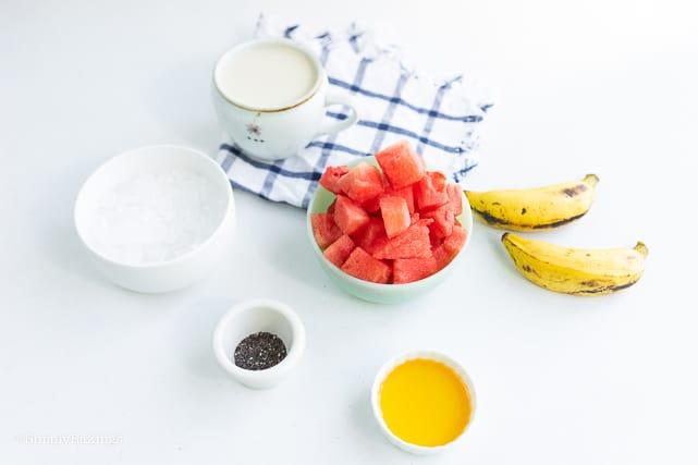 ingredients of watermelon smoothie