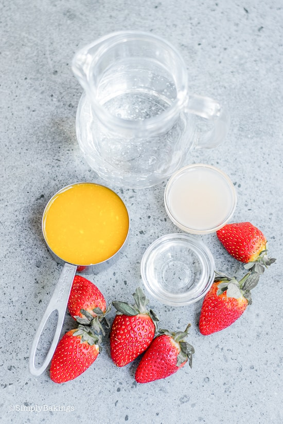 ingredients of strawberry mango lemonade recipe