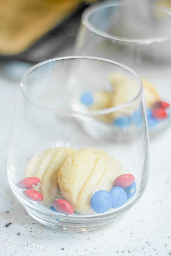 assembling the Patriotic Vegan Shortbread Trifle