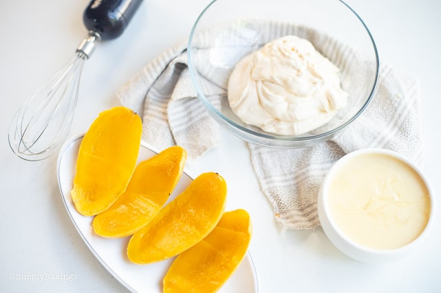 ingredients of the Filipino Mango Ice Cream