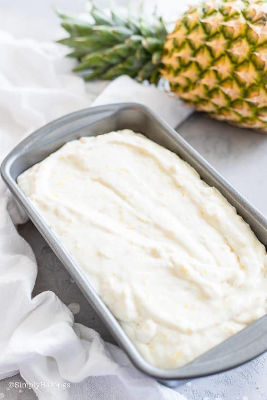 ready to freeze Pineapple Ice Cream