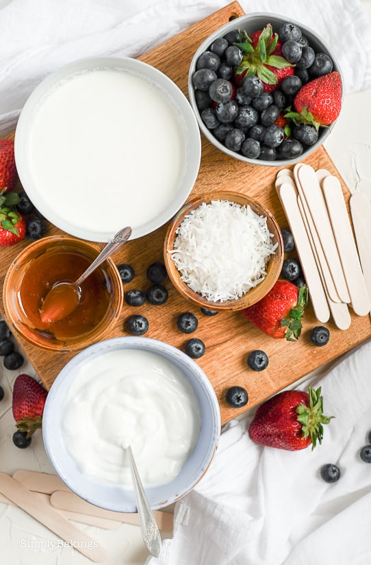 Berry Coconut Popsicles Ingredients
