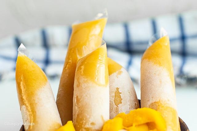 Vegan Mango Ice Candy in plastic wraps