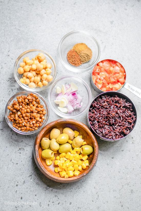 Easy Vegan Burrito ingredients
