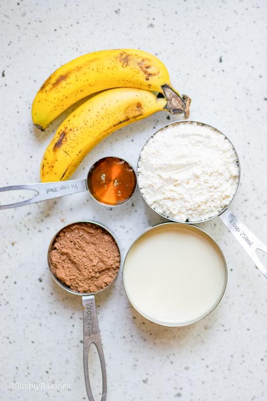 vegan chocolate banana pancakes ingredients
