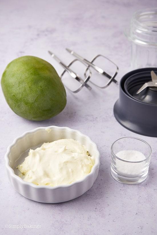 Mango Dalgona Ingredients