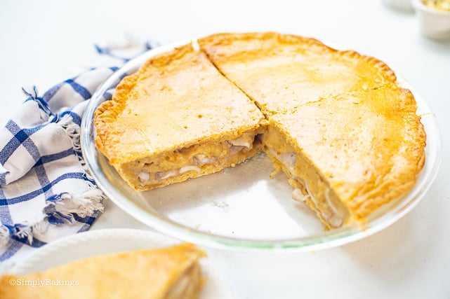 cut buko pie in a pie pan