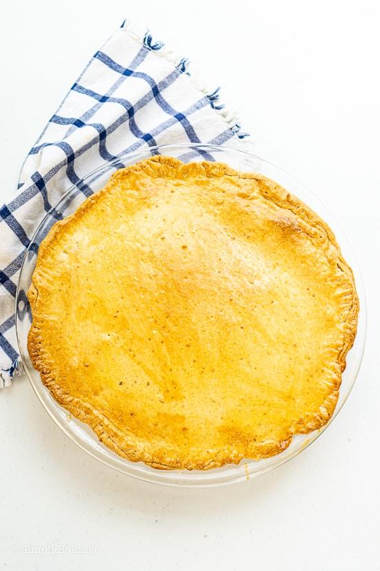 a whole pie of buko pie